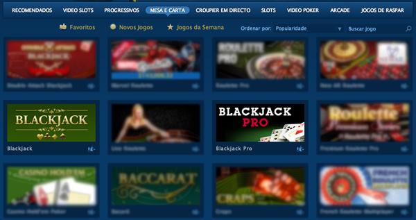 Escolher Blackjack